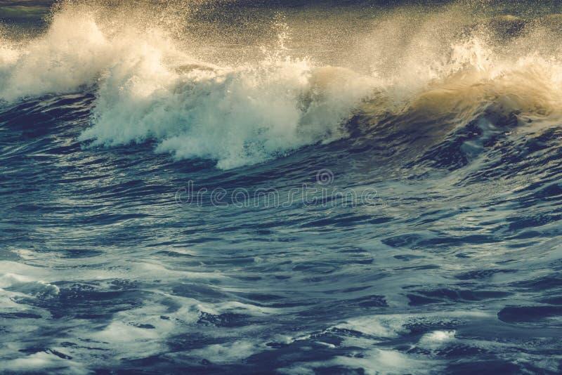 Sturm in Meer stockfoto