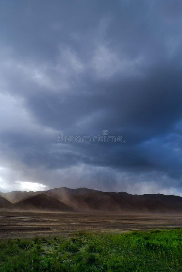 Sturm in Tibet stockfoto