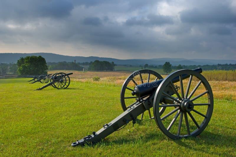 Sturm-Wolken über Schlachtfeld stockfotos