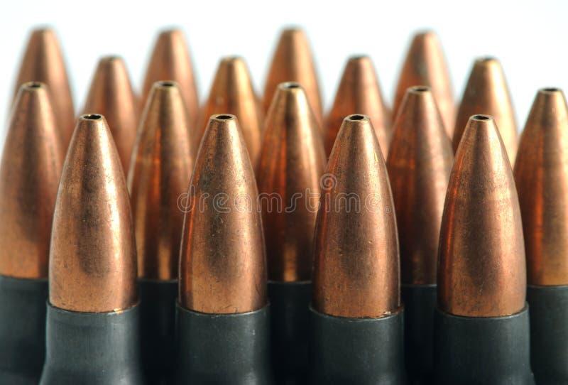 Sturmgewehr-Gewehrkugeln lizenzfreies stockbild