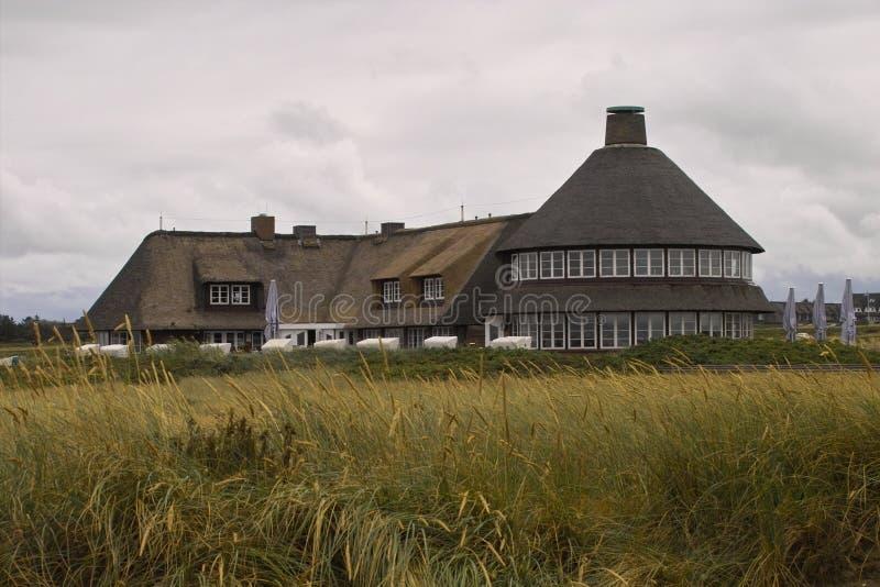 Sturmhaube auf Sylt (Kampen) lizenzfreies stockbild