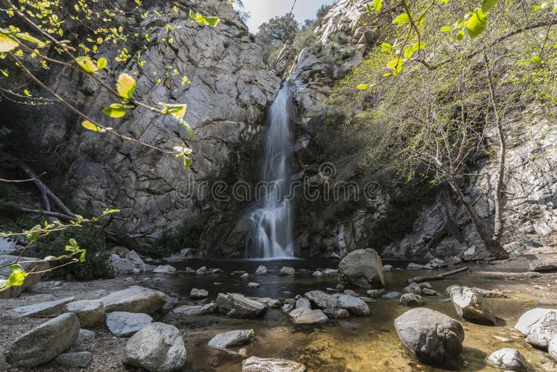 Sturtevant cade San Gabriel Mountains Los Angeles California fotografia stock libera da diritti