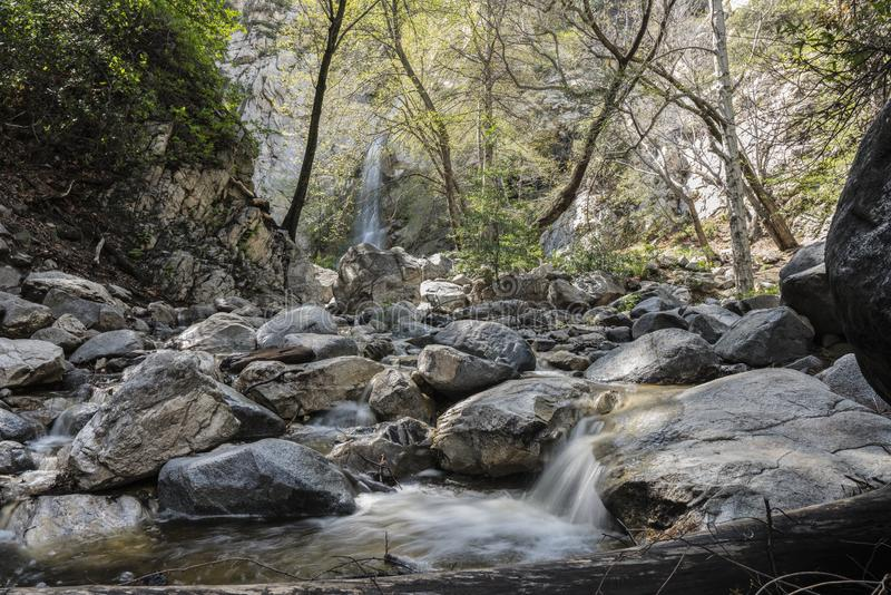 Sturtevant Falls and Creek San Gabriel Mountains Los Angeles Cal stock image