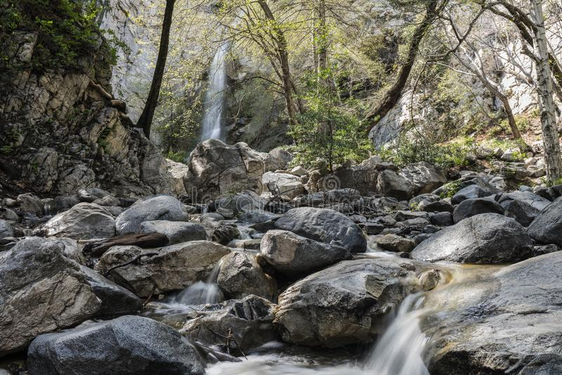 Sturtevant Falls San Gabriel Mountains Los Angeles California royalty free stock photography