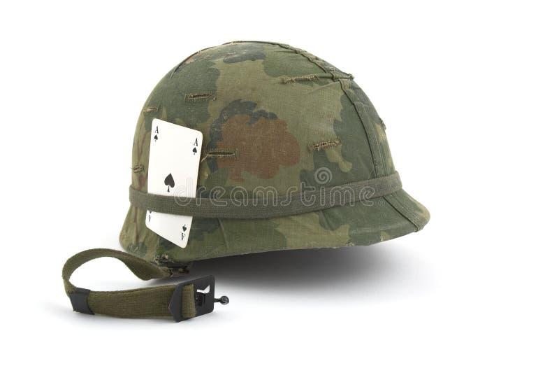 Sturzhelm der AMERIKANISCHEN Armee - Vietnam-Ära lizenzfreies stockbild