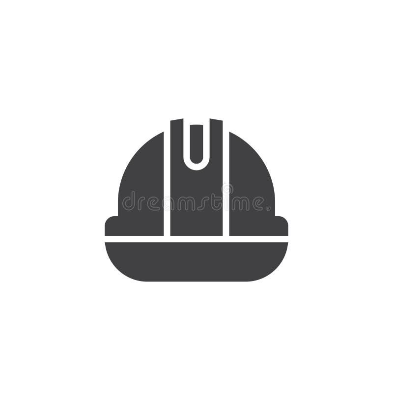 Sturzhelm- oder Schutzhelmbetrugvektor stock abbildung