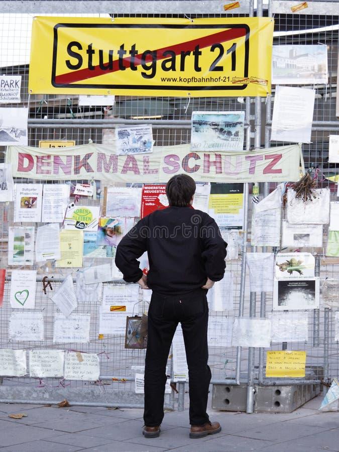 Stuttgart 21 - Demonstration stockbild