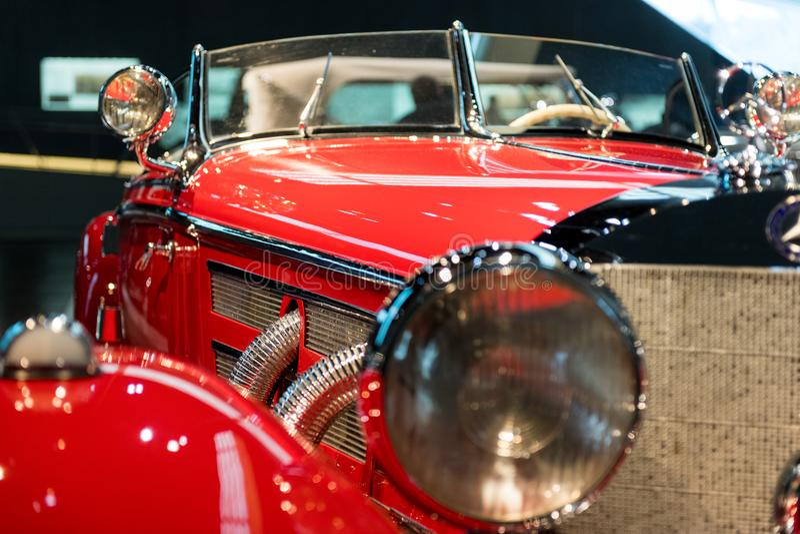 Stuttgart, Alemania - 3 de febrero de 2018, Mercedes Benz Muse imagen de archivo