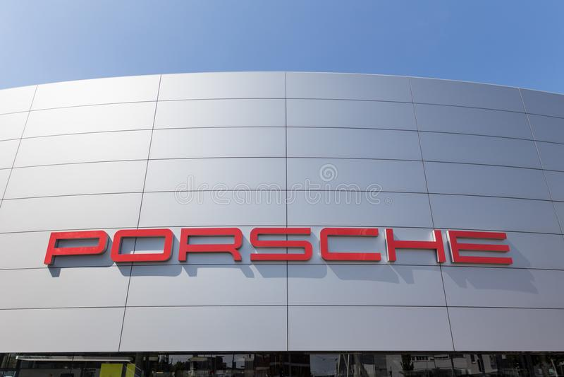 Stuttgart, Baden-Wurttemberg/Alemania - 21 08 18: muestra Stuttgart Alemania de Porsche foto de archivo