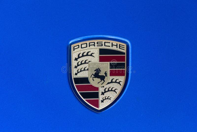 Stuttgart, Baden-Wurttemberg/Deutschland - 21 08 18: Porsche-Zeichen Stuttgart Deutschland stockfotografie