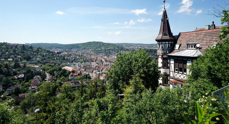 Stuttgart. Is the capital of the state of Baden-Wuerttemberg in southwest Germany. The sixth-largest city in Germany,  has a population of 600,000, while the royalty free stock images