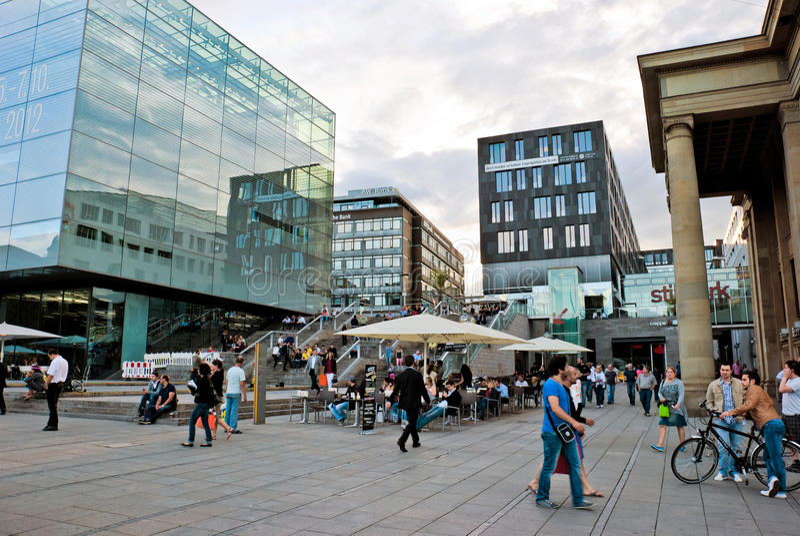 Stuttgart city centre editorial stock photo Image of mitte 29299978