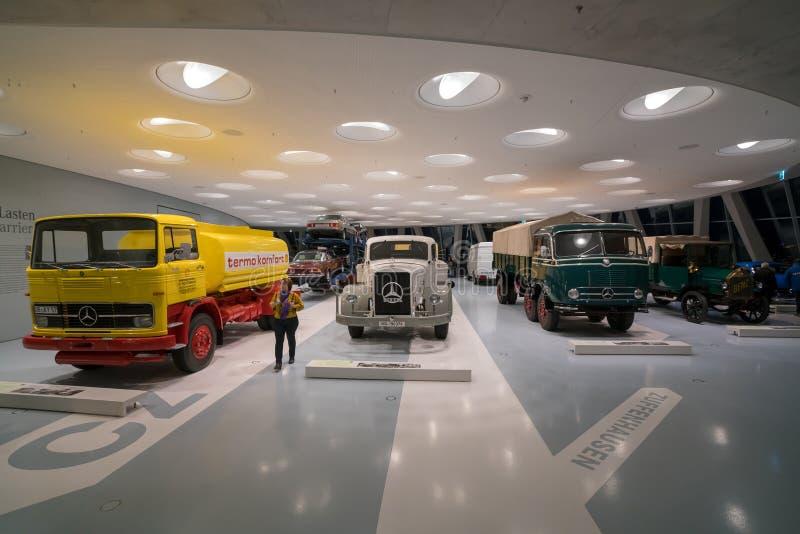 STUTTGART, DUITSLAND - DECEMBER 30, 2018: Binnenland van museum royalty-vrije stock afbeelding