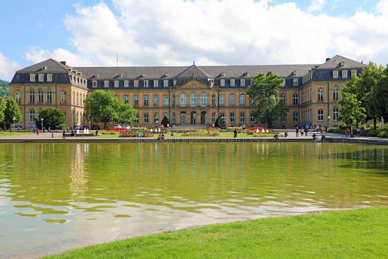 STUTTGART, DUITSLAND - JUNI 12, 2019: Ministerie van Financiën van Baden-Wuertemmberg in het park van Oberer Schloßgarten, Stuttg royalty-vrije stock afbeeldingen