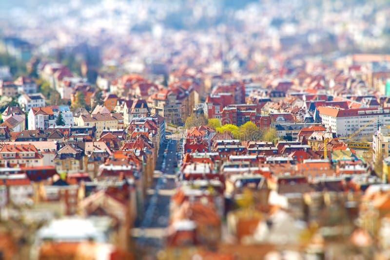 Stuttgart - effetto dello spostamento di inclinazione immagini stock