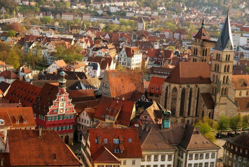 Stuttgart-Esslingen old town centre stock images