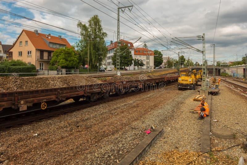 STUTTGART, GERMANIA - 12,2019 AUGUSTI: Vaihingen fotografie stock libere da diritti
