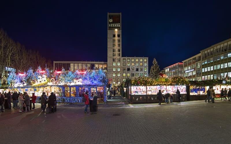 Christmas market at Market Square of Stuttgart, Germany royalty free stock photos