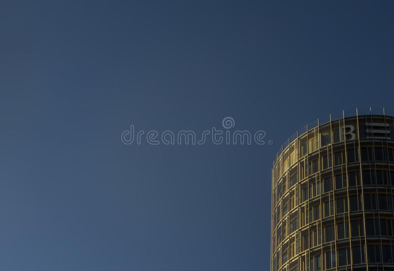 STUTTGART,GERMANY - FEBRUARY 24,2019:Europe District This is a new,modern office building of the LBBW. One of South Germany`s biggest banks.It`s between royalty free stock images