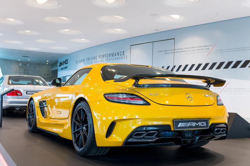 Stuttgart, Germany - February 03, 2018, The Mercedes Benz Muse royalty free stock image