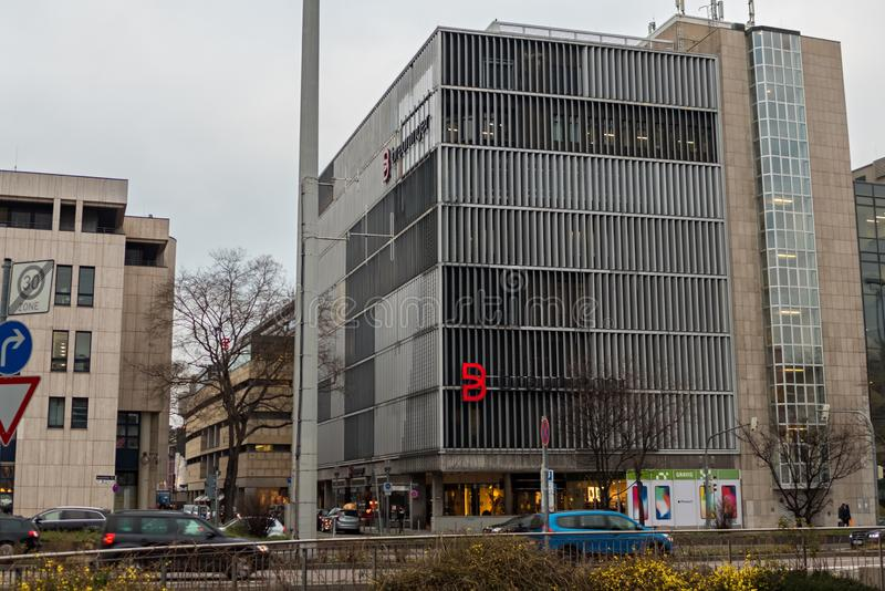 STUTTGART,GERMANY - JANUARY 12,2018: Holzstrasse This is the old building of the expensive Breuninger warehouse in the center of stock images