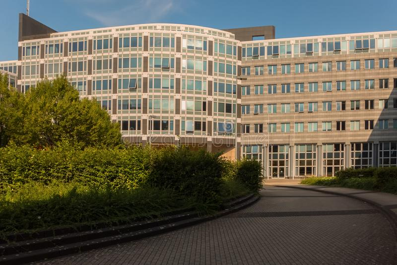 STUTTGART,GERMANY - JULY 09,2019: Vaihingen This is the Regierungspraesidium stock photography