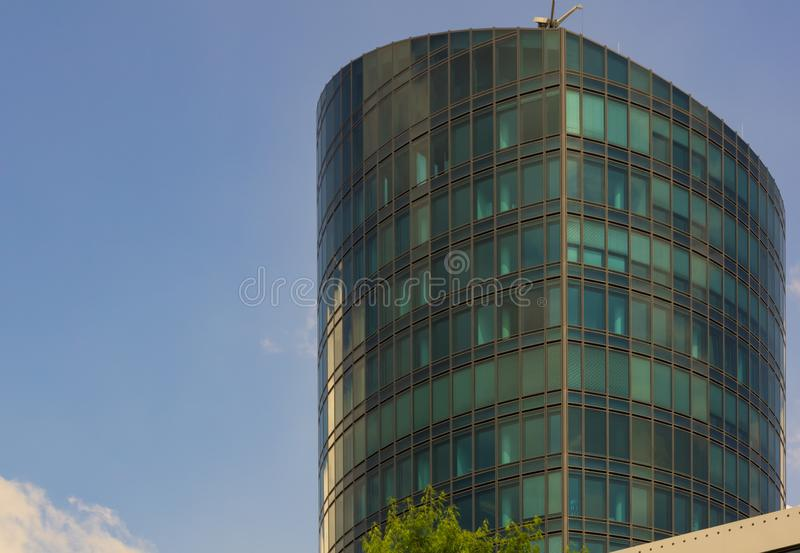 STUTTGART,GERMANY - JUNE 08,2018:Industriestrasse This is the modern Colorado Tower stock image