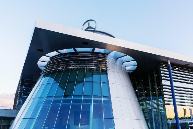 Mercedes Benz headquarters in Stuttgart, Germany stock images