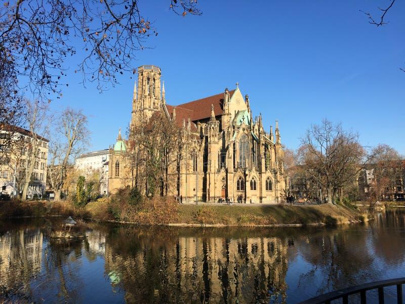 Stuttgart Johanneskirche immagini stock