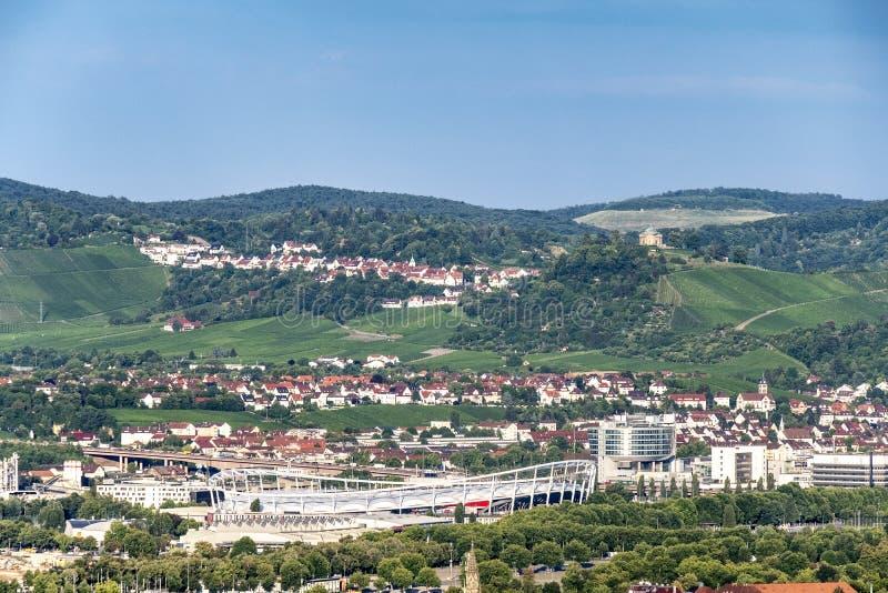 Stuttgart Killesberg basztowy odgórny widok fotografia stock
