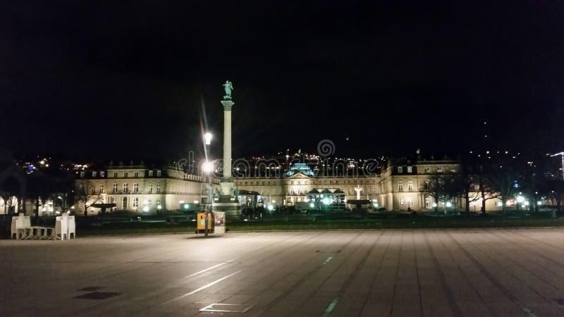 Stuttgart nocą obrazy royalty free