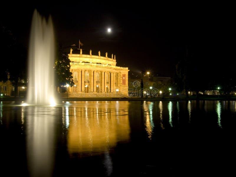 Download Stuttgart Opera House At Night Stock Image - Image: 7293047