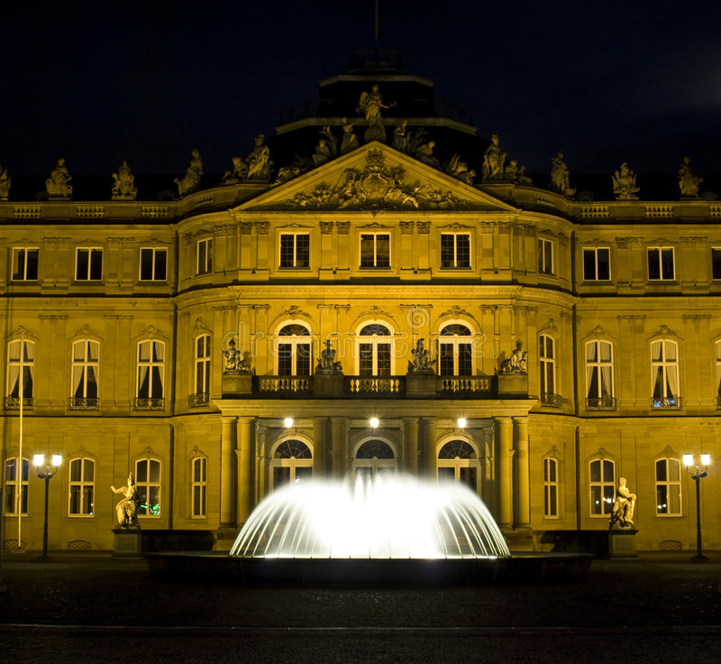 Stuttgart-Palast-Quadrat stockfotografie