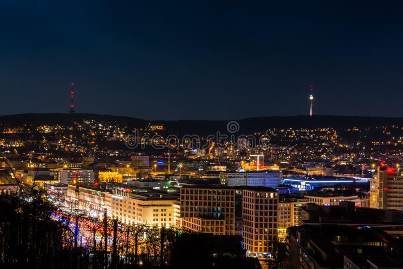Stuttgart pejzażu miejskiego krajobrazu stolica Baden Wuerttemberg Da obraz stock
