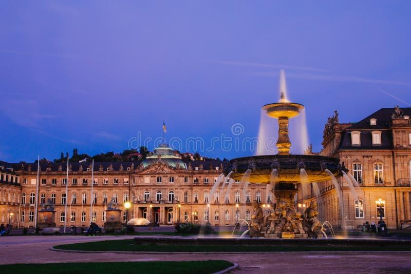 Stuttgart springbrunn royaltyfria foton