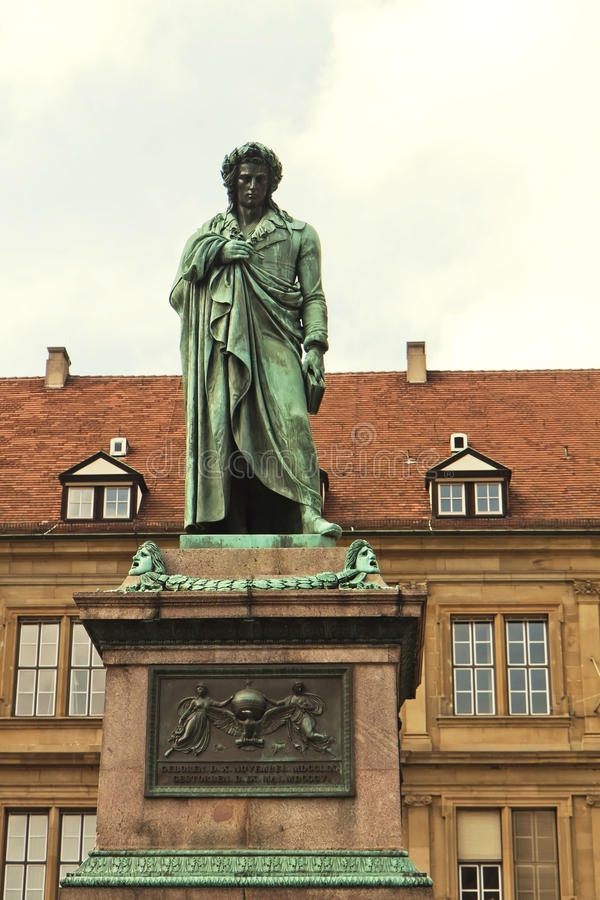 Download Stuttgart, Statue Of Friedrich Schiller Stock Photo - Image of cityscape, building: 27441044