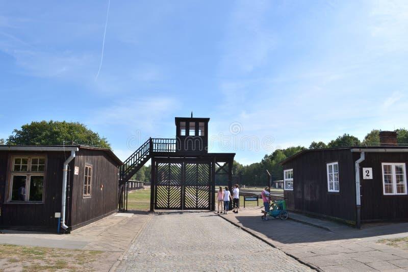 Stutthof nazistowski koncentracyjny obóz zdjęcie stock