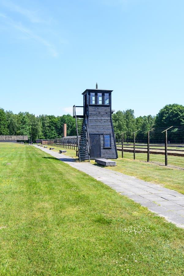 Stutthof Niemiecki koncentracyjny obóz fotografia stock