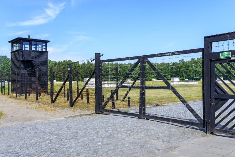 Stutthof Niemiecki koncentracyjny obóz obrazy stock