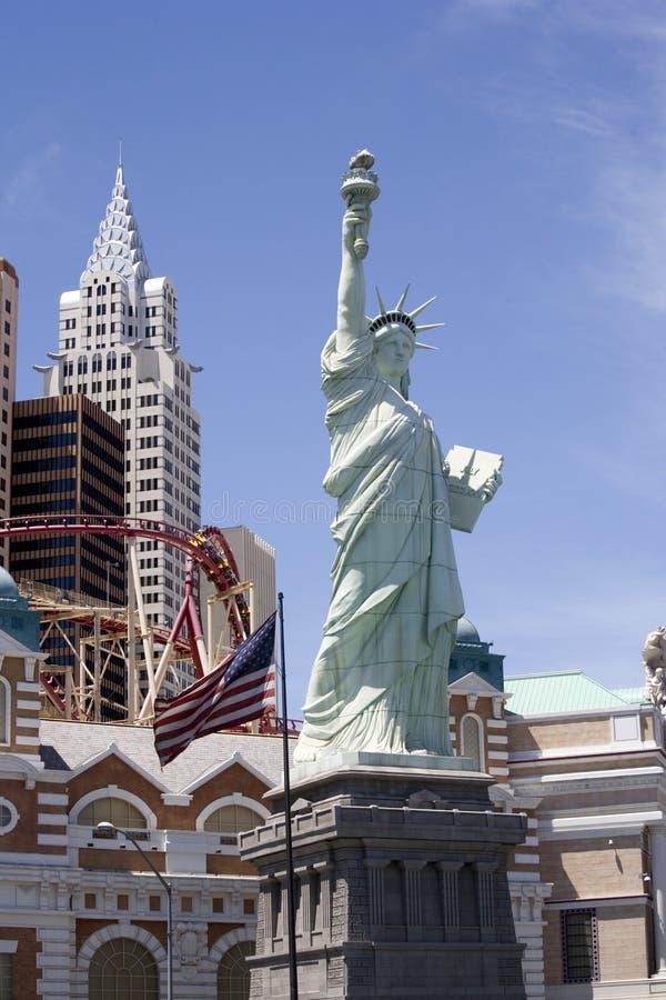 Stutue da liberdade em Las Vegas fotos de stock