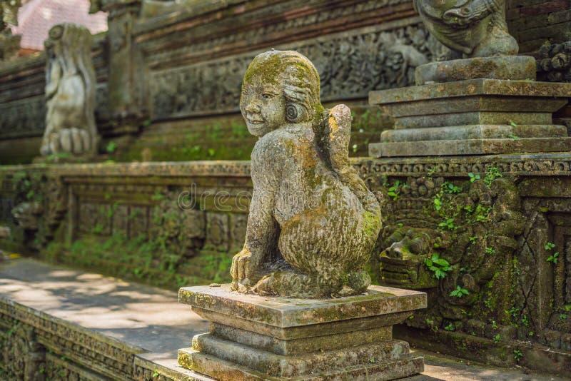 Stutue na floresta sagrado do macaco, Ubud, Bali, Indonésia imagens de stock royalty free