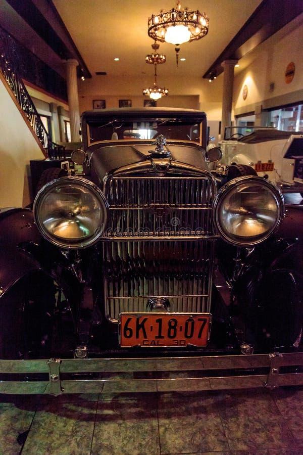 1928年Stutz 8 BB黑鹰speedster 免版税库存图片