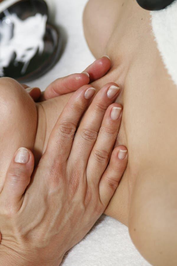 Stutzen-Massage lizenzfreies stockbild