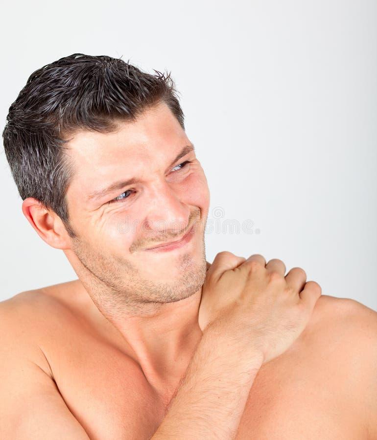 Stutzenschmerz stockbild