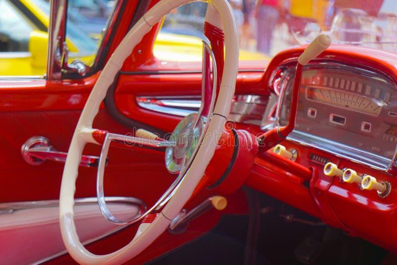 Stuurwiel Klassieke Auto royalty-vrije stock foto