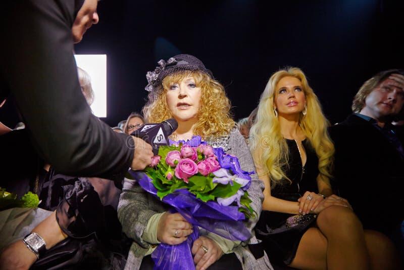 Download STV Correspondent Interviews Alla Pugacheva Editorial Photo - Image of gown, dress: 32224056