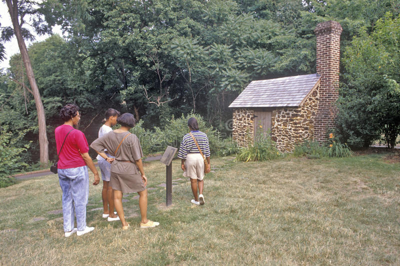 Stwarza ognisko domowe Frederick Douglass, Cedrowy wzgórze, Waszyngton, DC zdjęcia stock