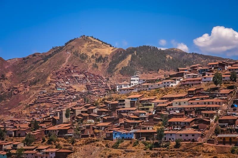Stwarza ognisko domowe i domy w Cusco mieście w Peru fotografia stock