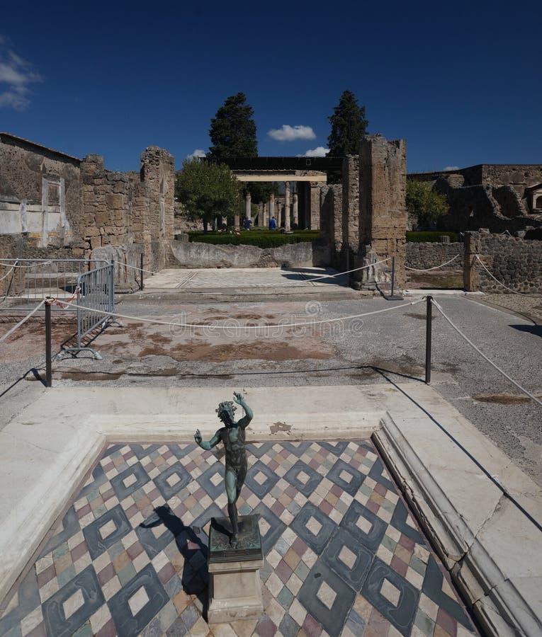 Stwarza ognisko domowe w Antycznym Pompeii fotografia stock