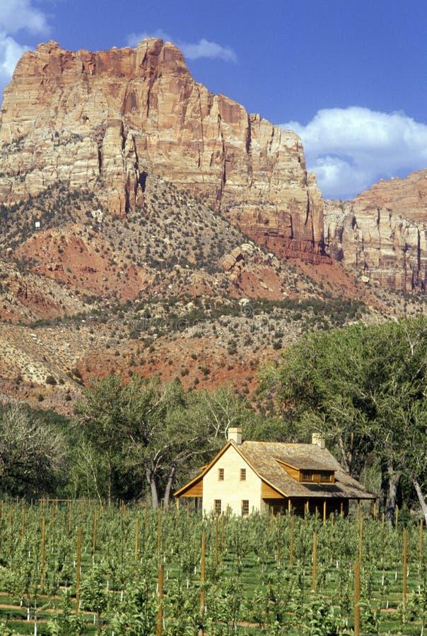 Stwarza ognisko domowe w południowych zachodach UT blisko Canyonlands fotografia stock